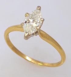 Stunning 1CT Marquise Diamond Ring, Size 8