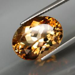 High fire 11.41ct golden amber Imperial Topaz