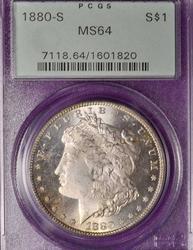 1880-S MS65 Morgan Silver Dollar, PCGS