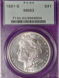 1881-S MS63 PCGS Morgan Silver Dollar