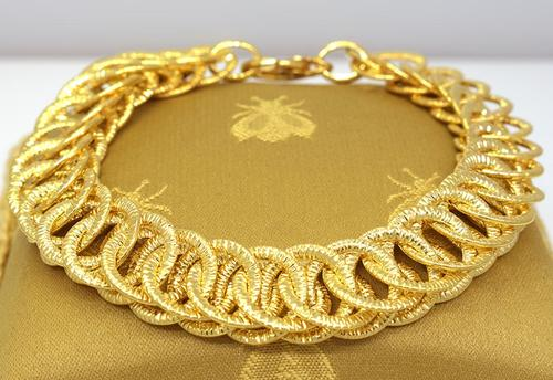 Beautiful Gold Circle Link Bracelet, 8in