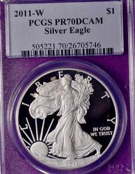 2011-W PR70 Silver Eagle, PCGS
