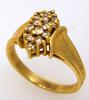 Diamond Cluster Ring in Gold, Size 6