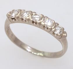 Diamond Band in Platinum, Size 6