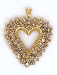 Stunning Diamond Heart Pendant in Gold