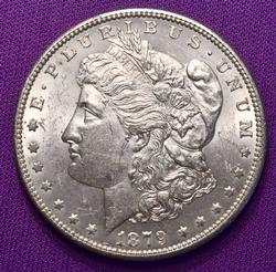 Choice AU/BU Slider 1879-S Rev 78 Morgan Dollar