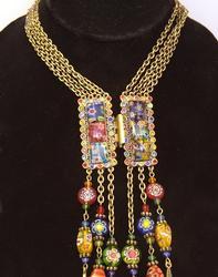 Tango Millefiori Glass Necklace