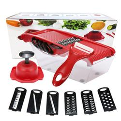 Vegetable Cutter Grater Slicing Tool with 6 Blades