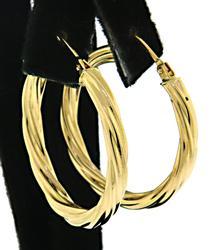 18kt Gold Twist Hoops