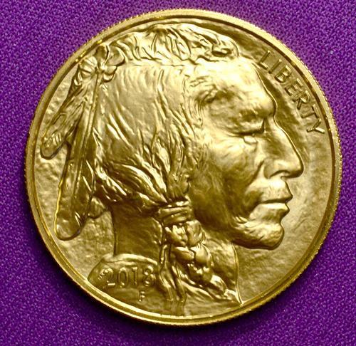 2018 BU Gold $50 Buffalo, .9999 Fine Gold