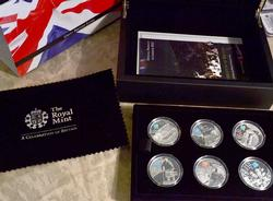 2010 British Icons Sterling 5pnd Set, 6 coin