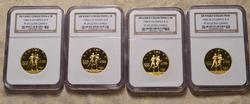 1984 $10 Gold P, D, S, W PF69 Gold Commem Set