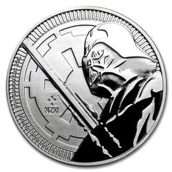 2018 1oz Darth Vader Lightsaber Star Wars Silver Coin