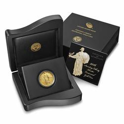 2016-W 1/4 oz Gold Standing Liberty Quarter Coin