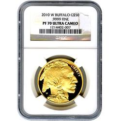 2010-W Certified Proof Buffalo Gold Coin PF70 NGC