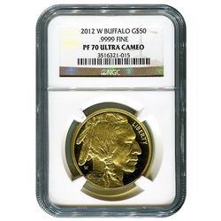 2012-W Certified Proof Buffalo Gold Coin PF70 NGC