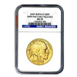 2009 Certified Uncirculated Gold Buffalo MS70 ER