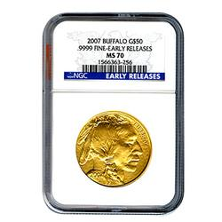2007 Certified Uncirculated Gold Buffalo MS70 ER