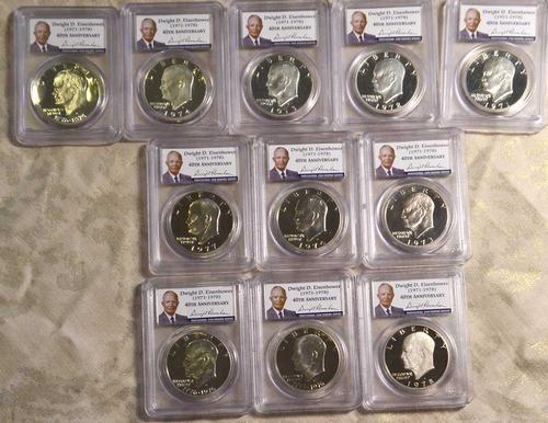 Full Ike Dollar PR69DCAM Set of Silver & Clad Proofs