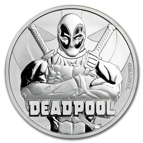 2018 Tuvalu 1oz Silver Marvel Series Deadpool
