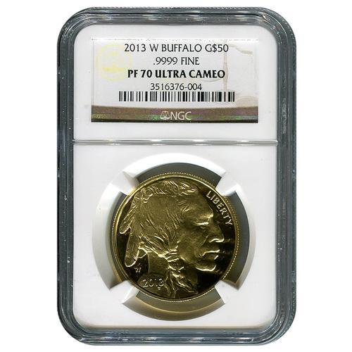 2013-W Certified Proof Buffalo Gold Coin PF70 NGC