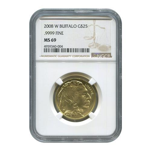 2008-W 1/2oz Certified Uncirculated Gold Buffalo MS69