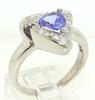 Gorgeous Tanzanite and Diamond Ring