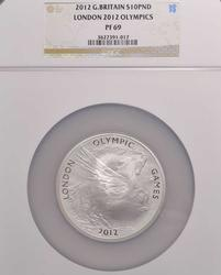 2012 10pnd London Olympic Pegasus, 5oz, NGC PF69