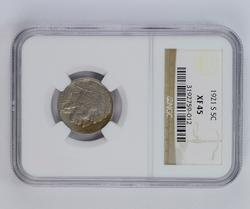 XF45 1921-S Buffalo Indian Head Nickel - NGC Graded