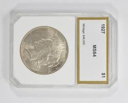 MS64 1927 Peace Silver Dollar - PCI Graded