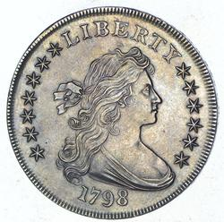 1798 Draped Bust Silver Dollar - Near Uncirculated