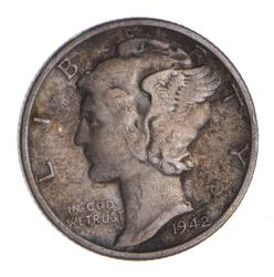 1942/1-D Mercury Silver Dime - Circulated