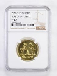 PF69 1979 450 Yen China Gold Year Of The Child - Graded NGC