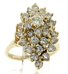 Charming Diamond Cluster Ring