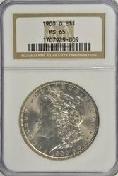 Gorgeous Gem BU 1900-O Morgan Silver Dollar. NGC MS65
