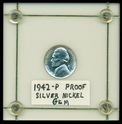 Superb Gem Proof 1942-P Silver Jefferson War Nickel
