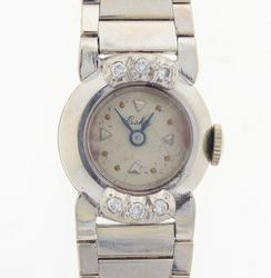 Ladies White Gold Eska Watch with Diamonds
