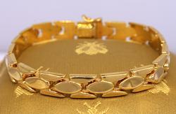 Gold Milor Link Bracelet, 7.25in