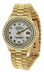 Rolex President Diamond Bezel Watch