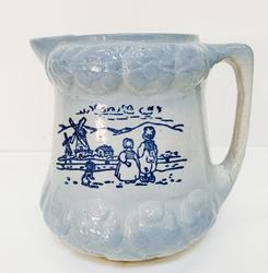 Antique Brush McCoy Blue & White Pitcher