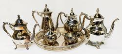 Beautiful 7 Pieces Silver Plated Tea Set