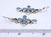 Sterling Inlaid Cross Earrings, Zuni Crafted, New