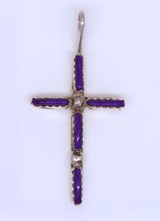 Needlepoint Sterling Silver Cross, New
