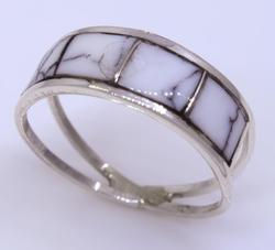 Sterling Silver Navajo Crafted Ring, Size 8