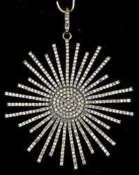 Beautiful Starburst Diamond Pendant
