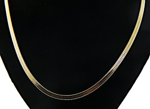 Heavy Square Snake Chain Necklace