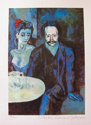 Pablo Picasso, Couple At Cafe
