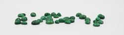 Big Lot of Faceted Green Beryl Gemstones