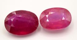 Two Medium Sized Rubies