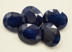 Great Group of Oval Cut Sapphires